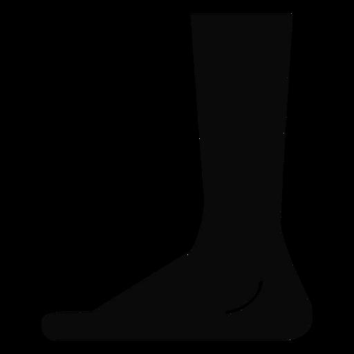 Silhueta detalhada do pé do pé do pé de B Transparent PNG