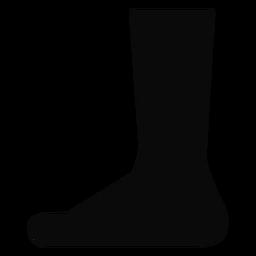 Silhueta de calcanhar de pé de perna B
