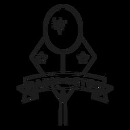 Raqueta de Badmington Estrella rombo trazo