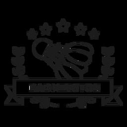 Badmington shuttlecock branch badge stroke