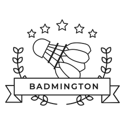 Trazo de insignia de rama de volante de badmington