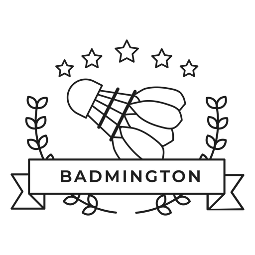 Badmington shuttlecock branch badge stroke Transparent PNG