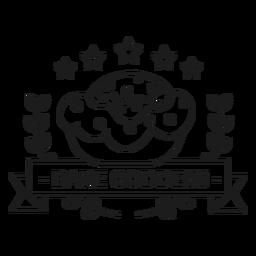 Bake goddess badge stroke