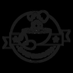 Bake goddess stroke badge