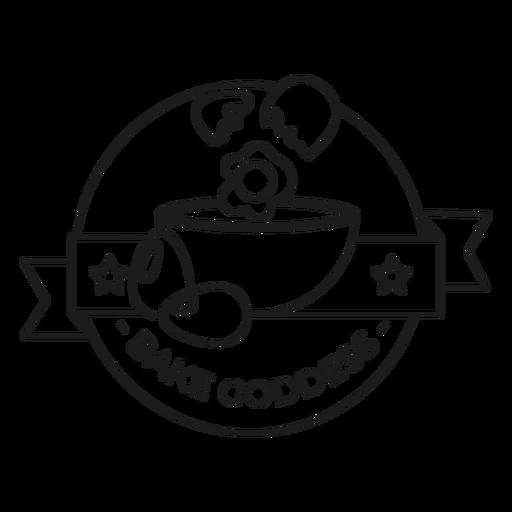 Backen Sie Göttin Schlaganfall Abzeichen Transparent PNG