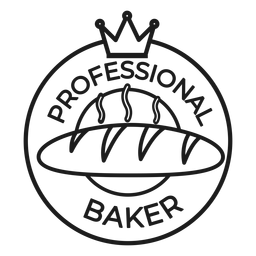 Baker crown badge stroke