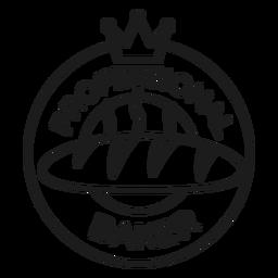 Trazo de insignia de corona de panadero