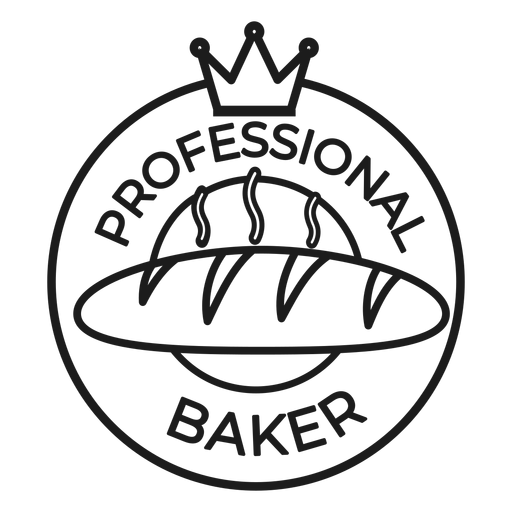 Baker crown badge stroke Transparent PNG