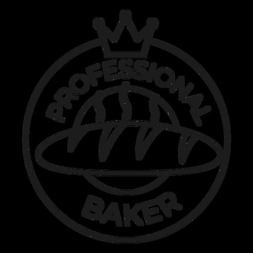 Trazo de insignia de corona de panadero Transparent PNG
