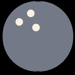 Ball Bowlingkugel Loch Silhouette