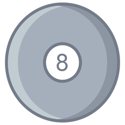 Ball eight circle flat