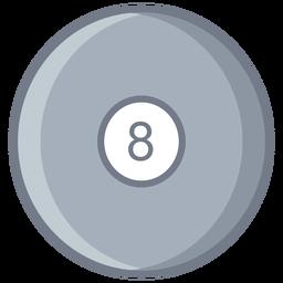 Bola ocho círculo plano