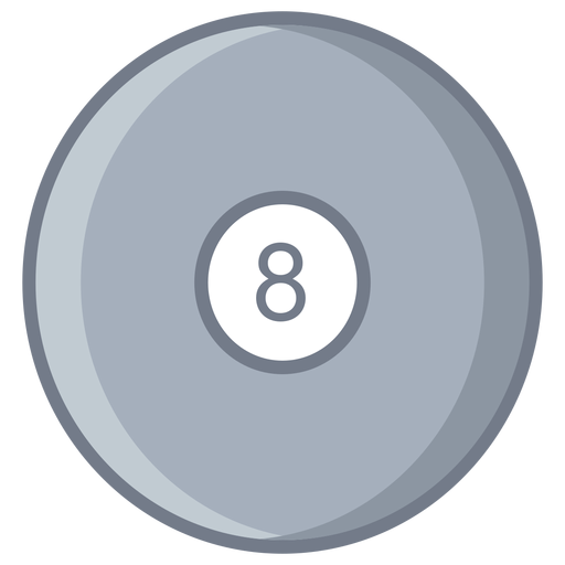 Ball eight circle flat Transparent PNG