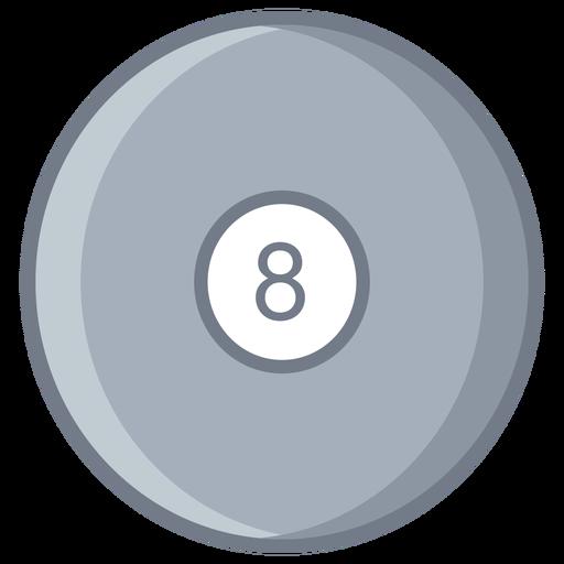 Bola oito círculo plano Transparent PNG