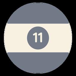 Silhueta de faixa onze círculo bola