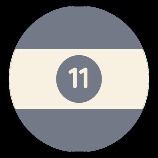 Silhueta de faixa onze círculo bola Transparent PNG