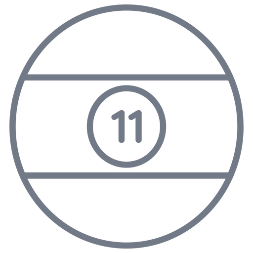 Ball eleven stripe circle stroke Transparent PNG