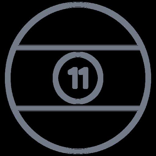 Esfera onze stripe circle stroke Transparent PNG