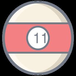 Ball elf Streifen flach