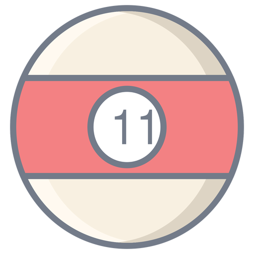 Ball eleven stripe flat Transparent PNG