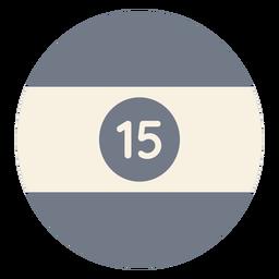 Silhueta de faixa quinze círculo de bola