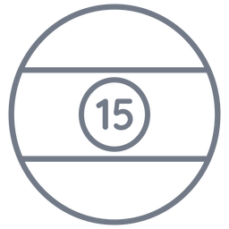 Ball fifteen stripe circle stroke