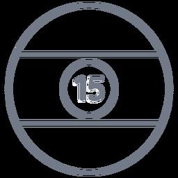 Bola quince trazo circulo raya