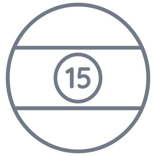 Ball fifteen stripe circle stroke Transparent PNG