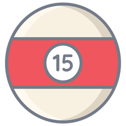 Ball fünfzehn Streifen flach