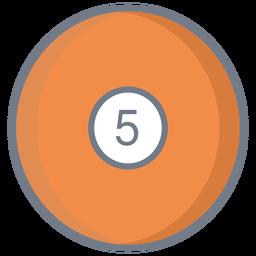 Bola cinco círculo plano