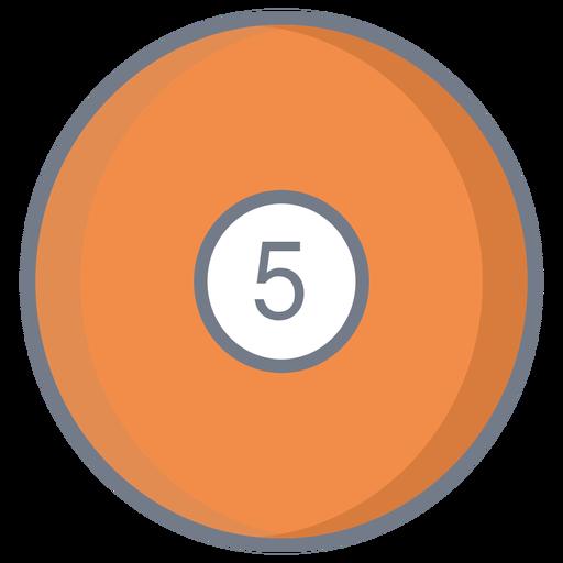Ball five circle flat Transparent PNG