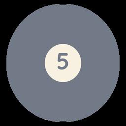 Pelota cinco circulos silueta