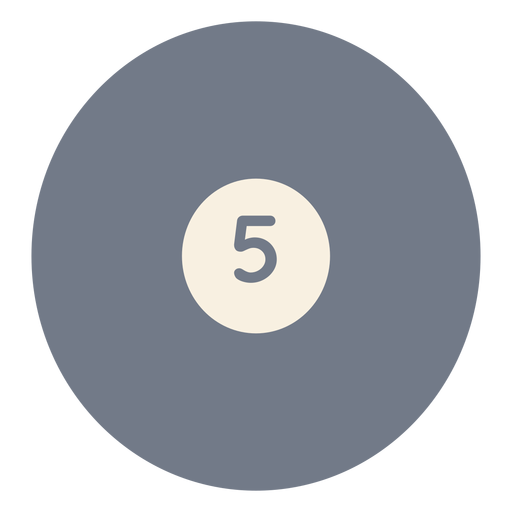 Ball five circle silhouette Transparent PNG