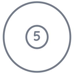 Ball fünf Kreis Schlaganfall