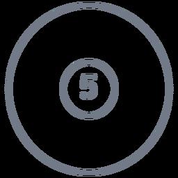 Bola, cinco, círculo, apoplexia