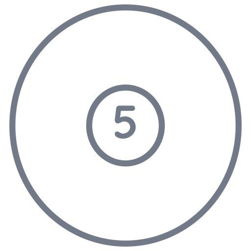 Ball five circle stroke Transparent PNG