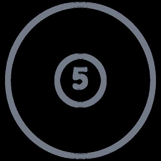 Bola, cinco, círculo, apoplexia Transparent PNG
