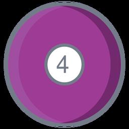 Bola de cuatro circulos plana