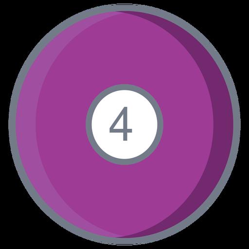 Ball four circle flat Transparent PNG