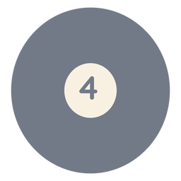 Silhueta de quatro círculo de bola