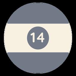 Ball vierzehn Kreis Streifen Silhouette