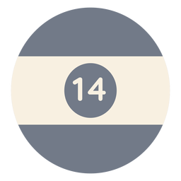 Bola catorce círculo raya silueta