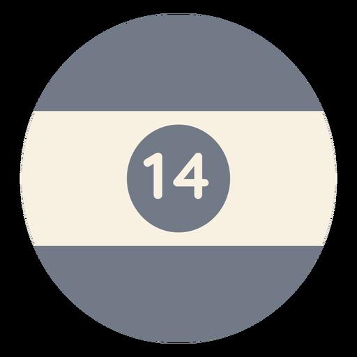 Ball fourteen circle stripe silhouette Transparent PNG