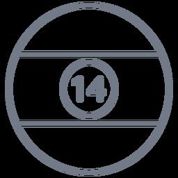 Kugel-Kreisanschlag mit vierzehn Streifen