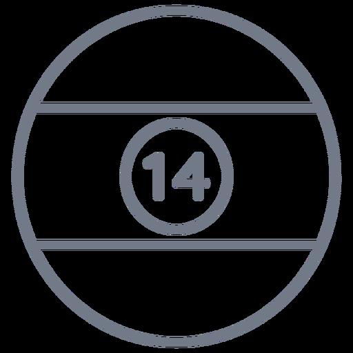 Ball fourteen stripe circle stroke Transparent PNG