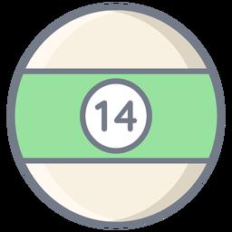 Ball vierzehn Streifen flach