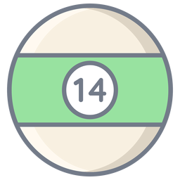 Bola catorce raya plana