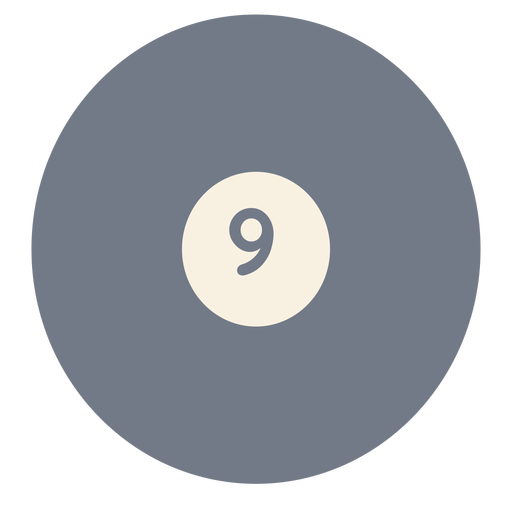 Ball nine circle silhouette Transparent PNG