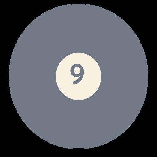 Silhueta de círculo nove bola Transparent PNG