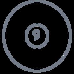 Ball neun Kreisstrich